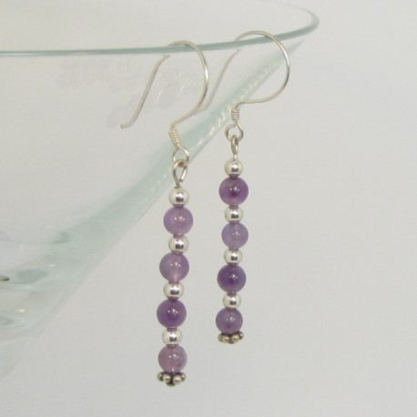 Amythyst and Silver Earrings