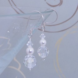 Swavorsky Crystal and Pearl Earrings