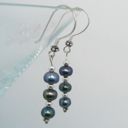 Peacock Pearl Earrings