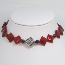 Carnelian and Bloodstone Choker