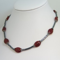 Carnelian and Hematite Necklace
