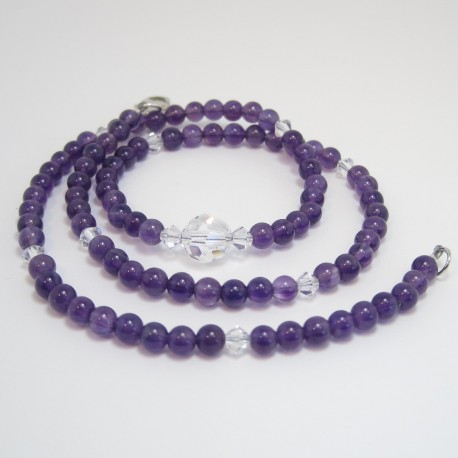 Amythyst and Crystal Necklace
