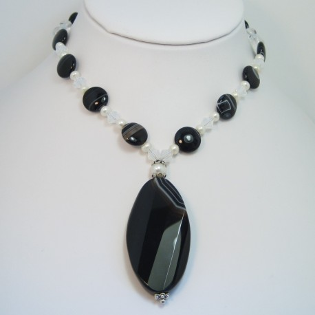 Sardonyx Drop Necklace