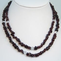 Garnet Chip Bead Necklace