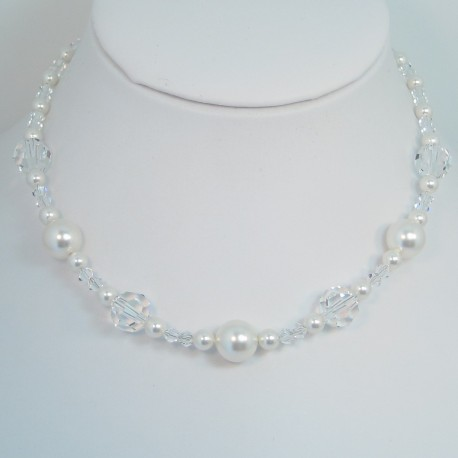 Swavorsky Pearl and Crystal Necklace