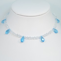 Swarovsky teardrop necklace