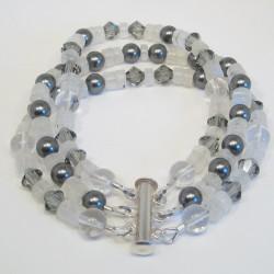 Multi gem 3 strand Bracelet