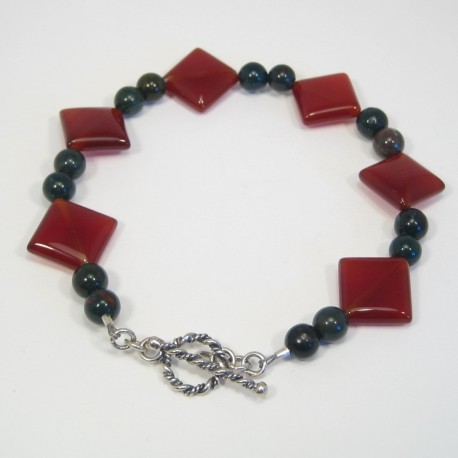 Carnelian and Bloodstone Bracelet