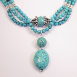 Turquoise 3 strand Necklace