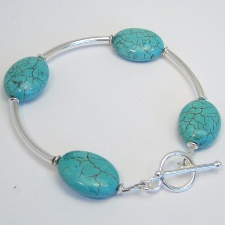 Turquoise Tube Bracelet