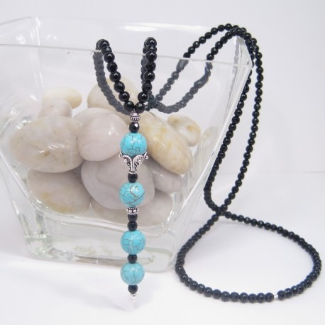 Onyx and Turquoise Necklace