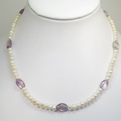 Pearl and Ametrine Necklace