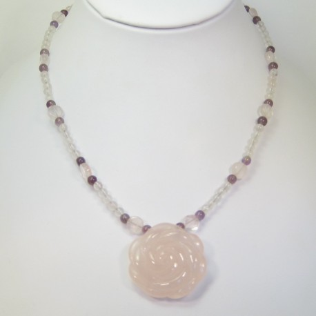 Rose Quartz and Ametrine Pendant