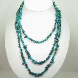 Turquoise Triple Strand Necklace