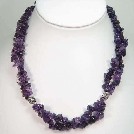 Amethyst Chip Bead Necklace