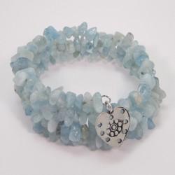 Aquamarine Memory Wire Bracelet