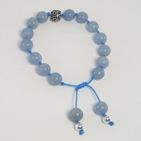 Angelite knotted bracelet