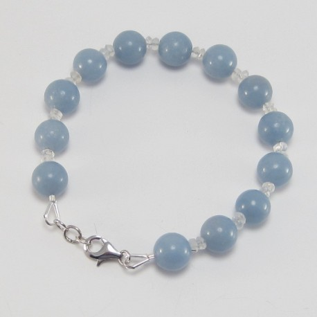 Angelite and Moonstone Bracelet.