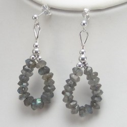 Labradorite earrings.
