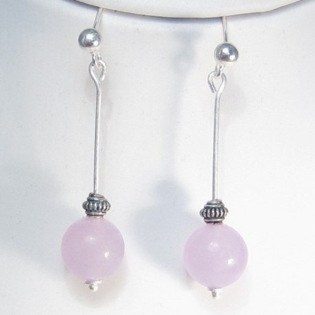 Lavender Jade Earrings