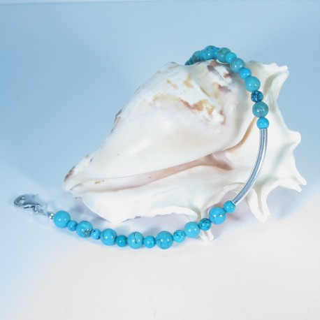 Turquoise and sterling silver Bracelet.