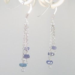 Tanzanite and Sterling Silver Earrings