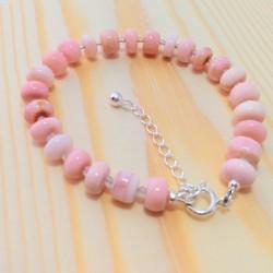 Pink Opal and Moonstone Bracelet