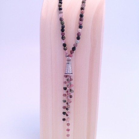 Tourmaline and Sterling Silver pendant necklace