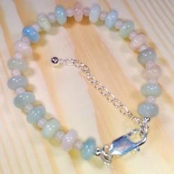 Beryl and Moonstone Bracelet.